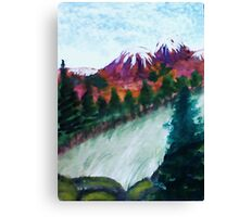 Snow  Caps, watercolor Canvas Print