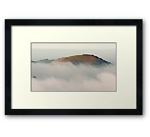 Hereford Beacon emerges from the mist Framed Print