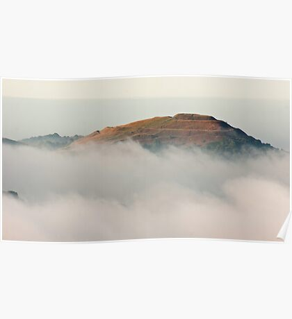 Hereford Beacon emerges from the mist Poster