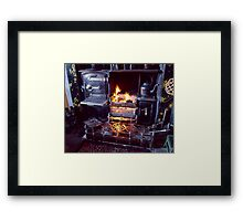 Cosy fireside at Beamish Museum Framed Print