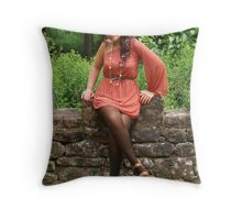 Sitting for you. Throw Pillow