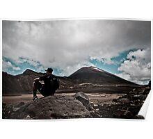 Solitude - Mt Tongariro National Park, New Zealand Poster