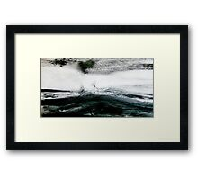 storm brewing.... sail out past the reef Framed Print