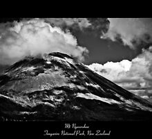 Mt Ngauruhoe - Tongariro National Park, New Zealand by John Allen