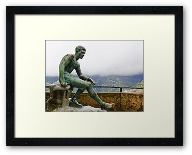Statue in the rain, Villa Cimbrone, Ravello, Amalfi Coast, Italy by Andrew Jones