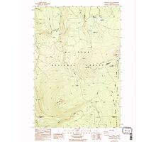 USGS Topo Map Oregon Pinhead Buttes 281100 1986 24000 Photographic Print
