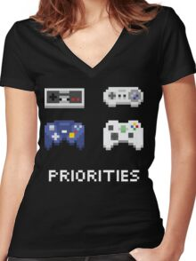 Priorities Women's Fitted V-Neck T-Shirt