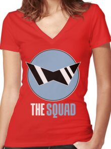 Squirtle Squad Women's Fitted V-Neck T-Shirt