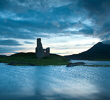 Castle on Loch Assynt by chriscyner