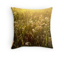 walking through the long grass on your hands Throw Pillow
