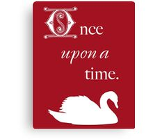 Once Upon a Time - Swan Canvas Print