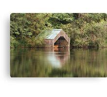 Loch Ard Boathouse Canvas Print