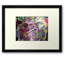 Three-layer blended abstract (UF0397)  Framed Print