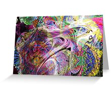 Three-layer blended abstract (UF0397)  Greeting Card