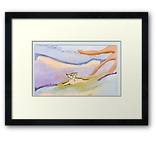 swimming in the id Framed Print