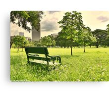 A Spot - Railroad Park Bangkok , HDR Urban Nature Canvas Print