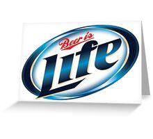 Beer is Life Parody Logo Greeting Card