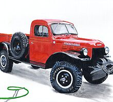 Antique Power Wagon by Yvonne Carter