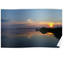 sunset on  lake Poster