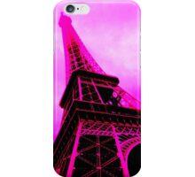 Stark Pink Eiffel Tower iPhone Case/Skin