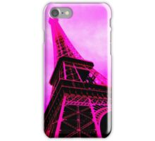 Stark Pink Eiffel Tower iPhone Case/Skin