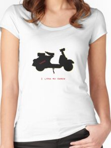 I love my vespa Women's Fitted Scoop T-Shirt