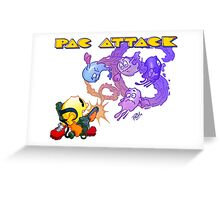 Pac Attack Greeting Card