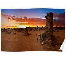 110620 Nambung National Park Pinnacles Sunrise 9 Poster
