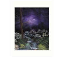 Misty Shropshire Waterfall Art Print