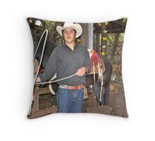 Mexican Cowboy Throw Pillow
