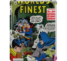 World's Finest Superman vs Batman Classic Comic Cover iPad Case/Skin