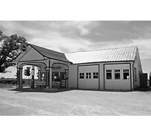 Route 66 - Odell Gas Station Photographic Print