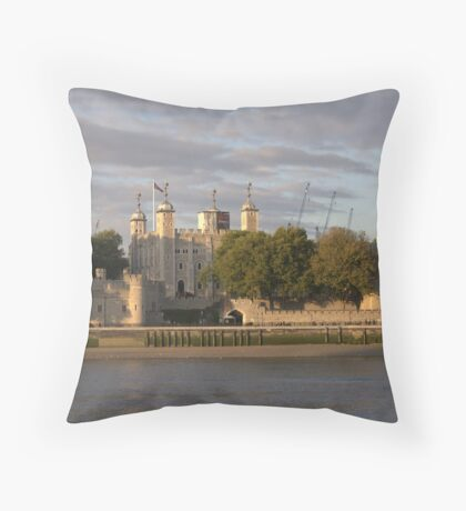 Tower of London on River Thames Throw Pillow