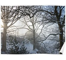 Fresh snow on Christmas Day Poster