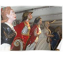 Cutty Sark Figureheads (before the fire), Greenwich Poster