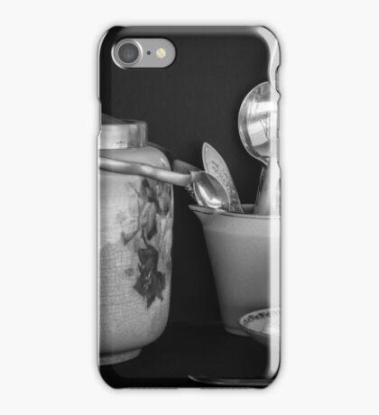 Nice cup of tea and a bikkie iPhone Case/Skin