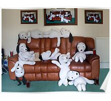 """Snoopy says """"It's A Dog's Life"""". Poster"""