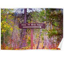 Trail To Mesa Falls Poster