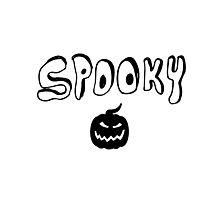 Spooky Halloween Black and White Photographic Print