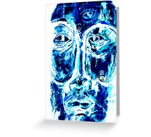 The face of nature strikes back Greeting Card