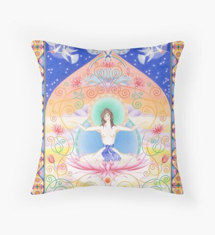 White Tara - Wisdom Throw Pillow