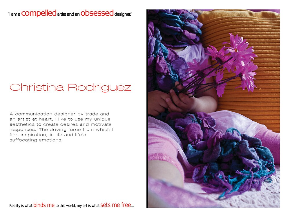 Promoting 'A Collection of My Expression...' by Christina Rodriguez