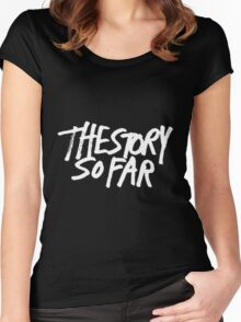 The Story So Far Logo (White on Black) Women's Fitted Scoop T-Shirt