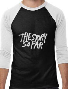 The Story So Far Logo (White on Black) Men's Baseball ¾ T-Shirt