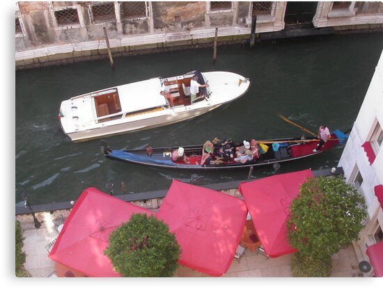 Gli ombrelloni a Venice...ITALY --- by Guendalyn