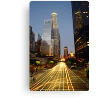 Downtown Los Angeles Sunset Canvas Print
