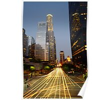 Downtown Los Angeles Sunset Poster