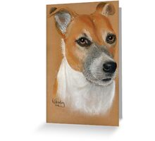 Roxy in pastel Greeting Card