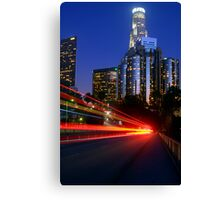 Downtown Los Angeles at Night Canvas Print