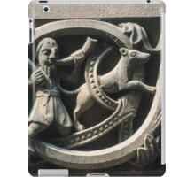 Cornice outside crypt Huntsman bas-relief  Cathedral Basel Switzerland 19840629 0021 iPad Case/Skin